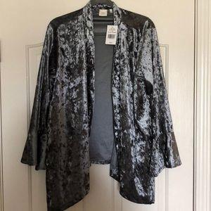 Good Luck Gem Velvet Kimono- NWT